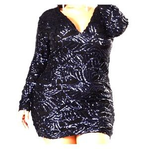 Fashion Nova sequin dress.  Navy blue